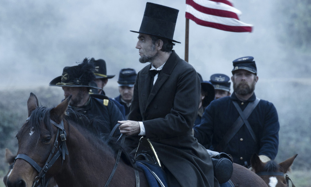 "President Abraham Lincoln (Daniel Day-Lewis) looks across a battlefield in the aftermath of a terrible siege in this scene from director Steven Spielberg's drama ""Lincoln."" ©Dreamworks II Distribution Co./20th Century Fox."