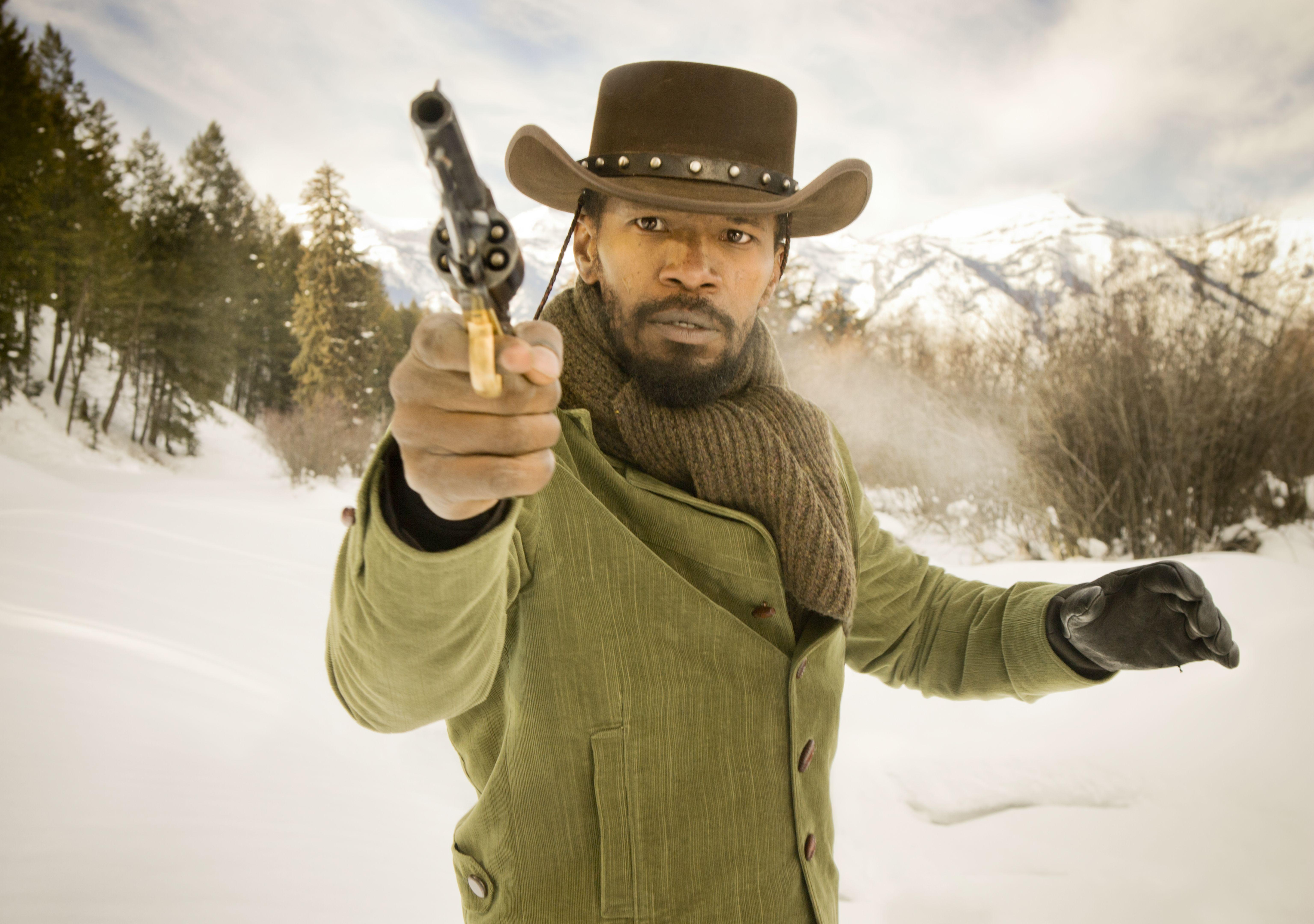 "Jamie Foxx stars in Columbia Pictures' ""Django Unchained,"" also starring Christoph Waltz."