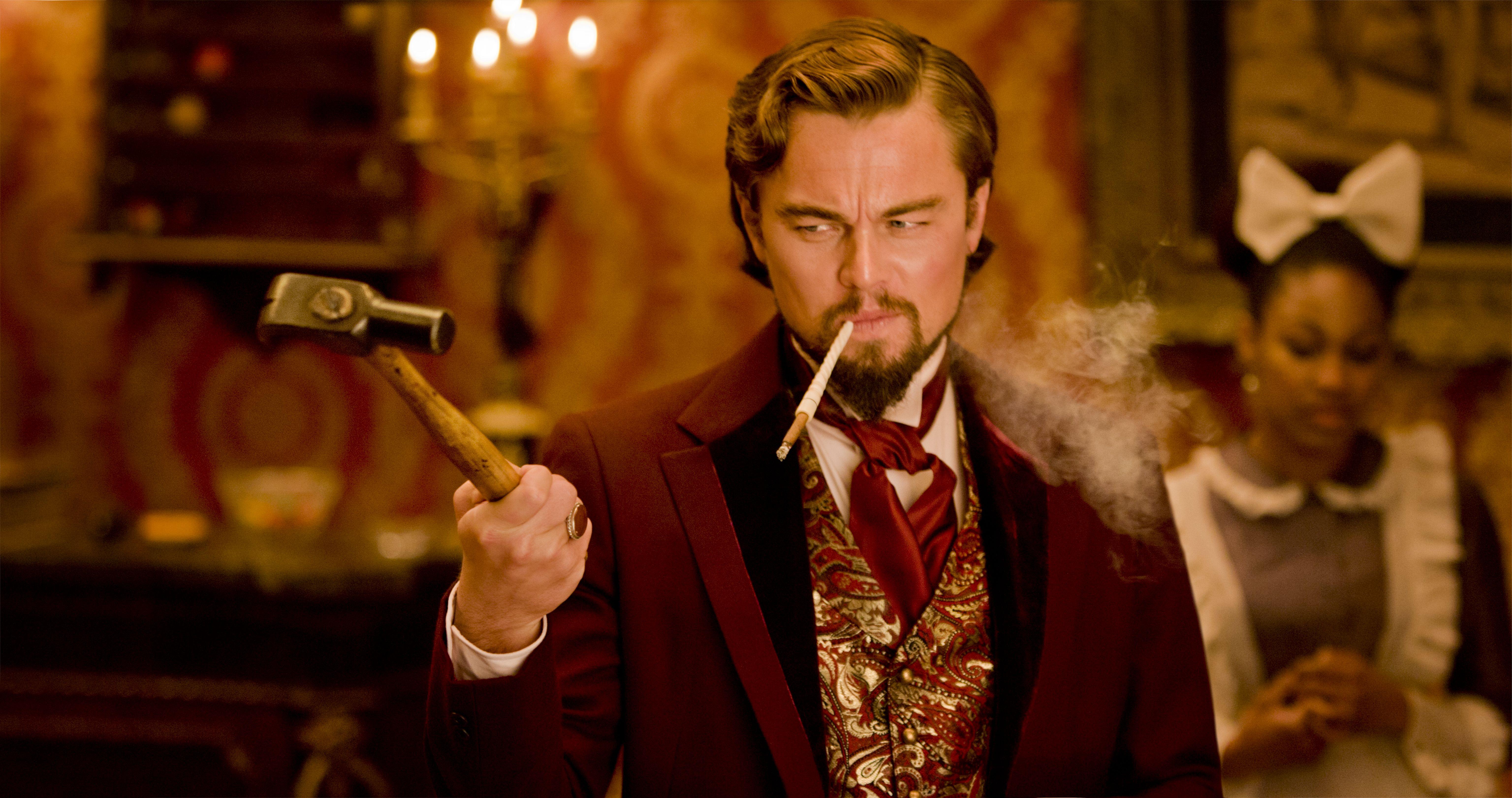"Leonardo DiCaprio in Columbia Pictures' ""Django Unchained,"" starring Jamie Foxx and Christoph Waltz."