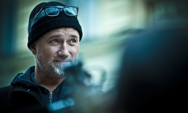 """Director David Fincher on the set of Columbia Pictures' """"The Girl With The Dragon Tattoo,"""" starring Rooney Mara and Daniel Craig."""