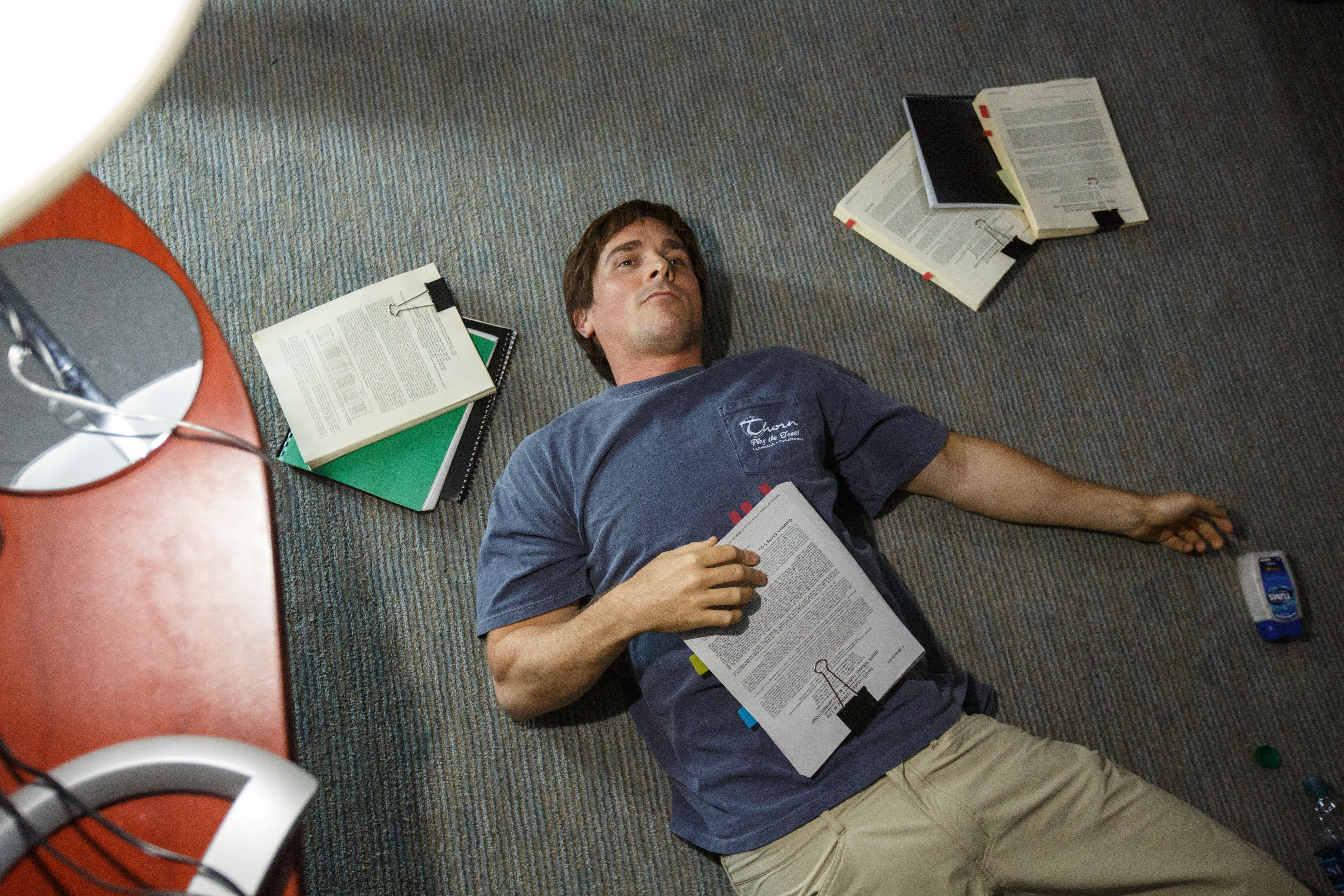 Christian Bale plays Michael Burry in The Big Short from Paramount Pictures and Regency Enterprises